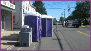 Porta Potties at festival in Rockland County