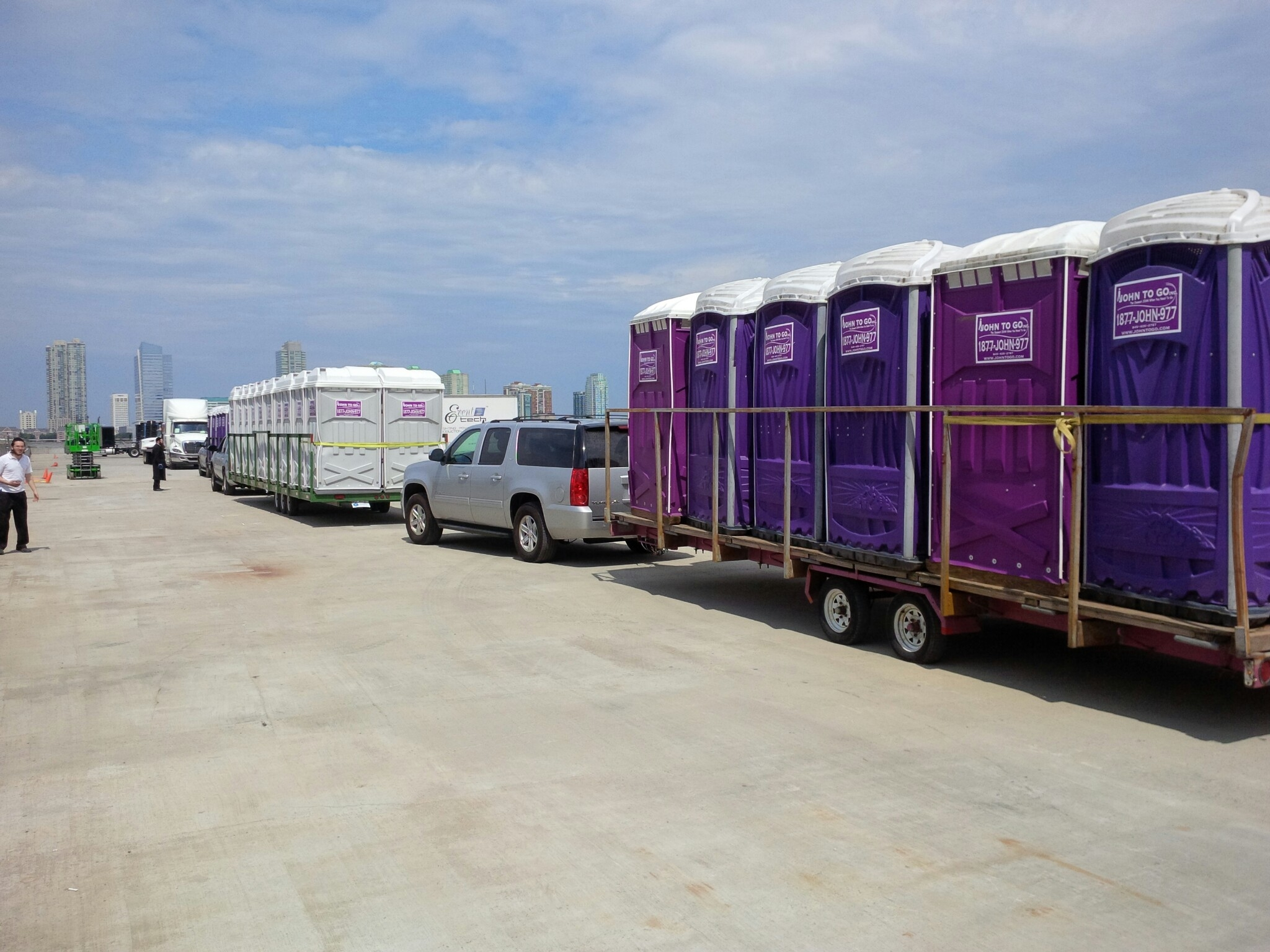 Bank of Event Units Being Delivered, to the Pride Event, in Manhattan, NY 1