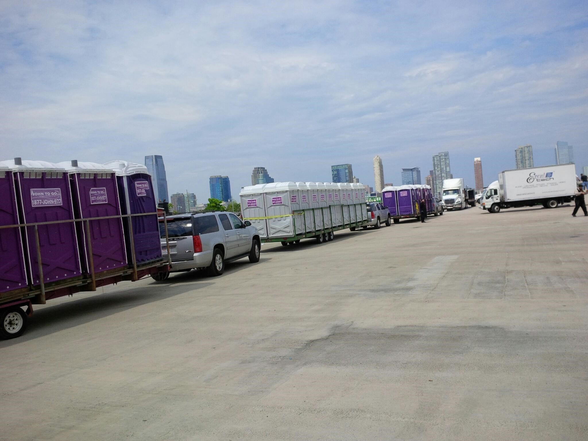 Bank of porta potty event units in NJ