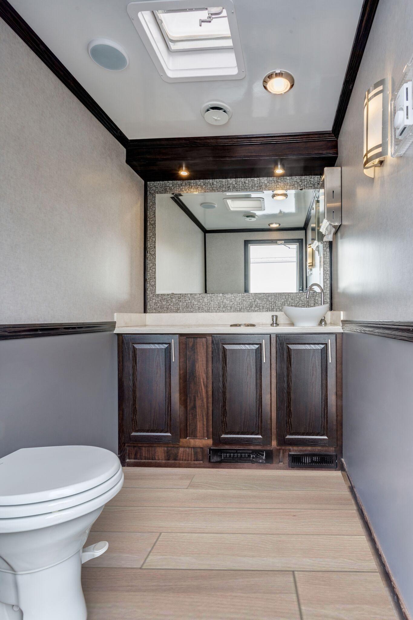 porta potty rental bergen nj trailer interior