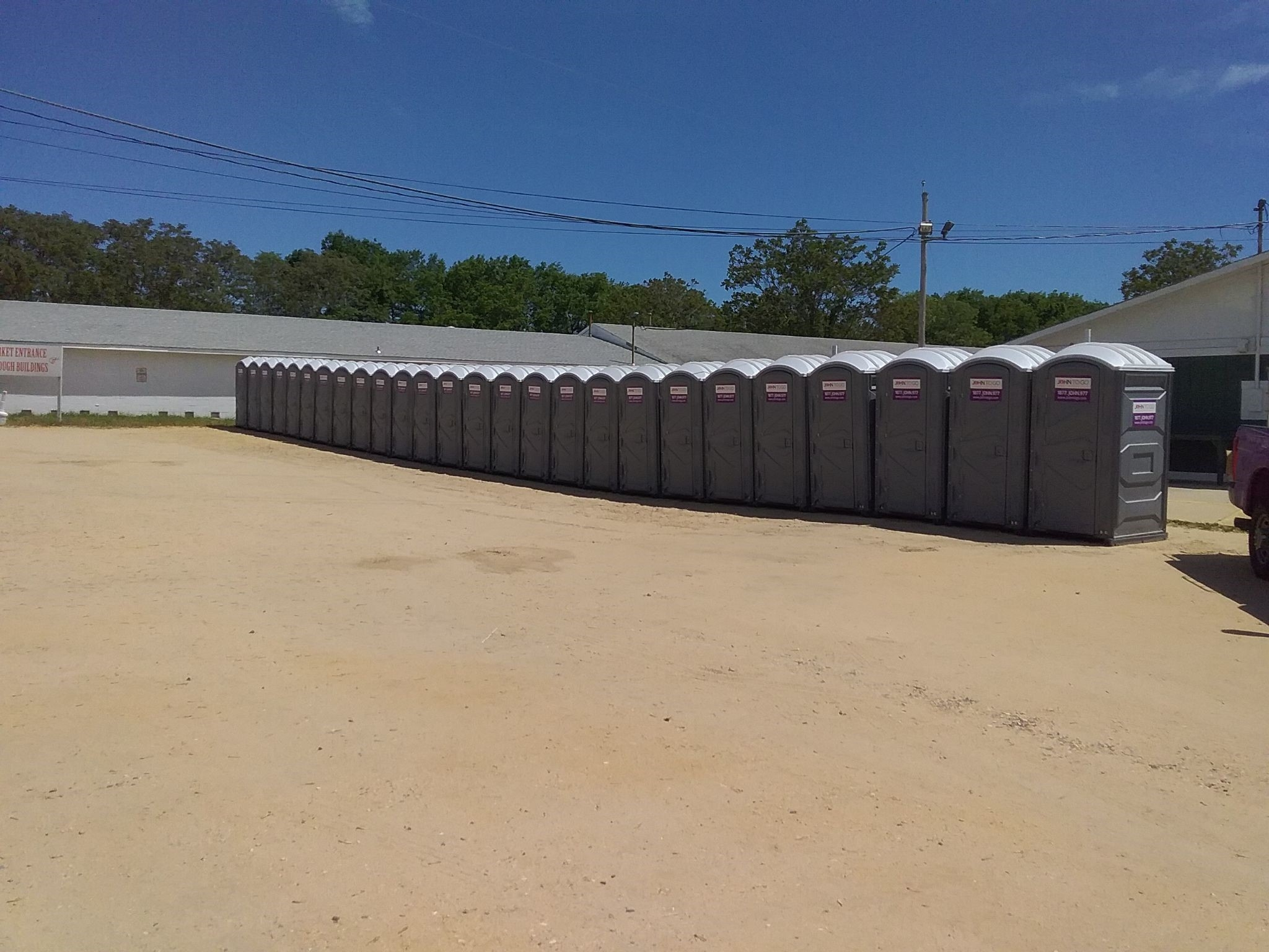 Portable toilets at Auction in Monmouth County NJ