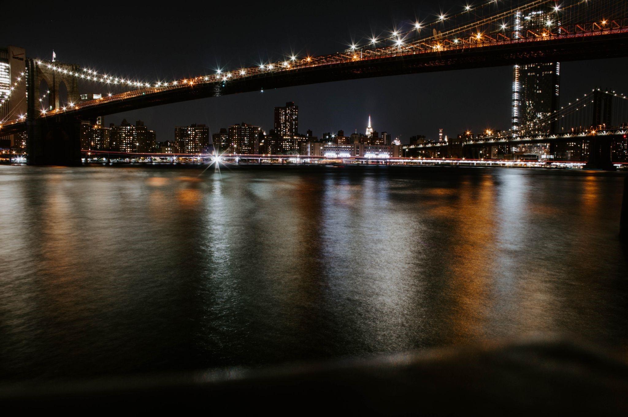 Bridge in NYC at night