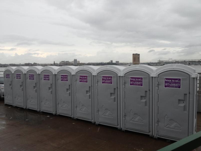 Porta potty toilets